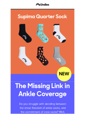 MeUndies - Introducing the Missing Link in Ankle Coverage