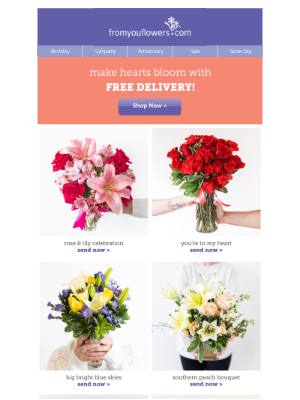 From You Flowers - Free Delivery Expires Tonight! It's time Valentine ❤️