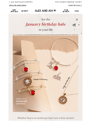 Alex and Ani - Gifts for January Babes