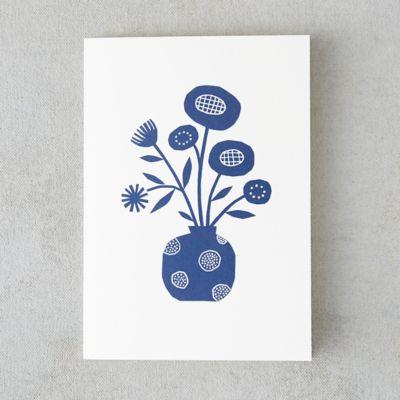Circle Vase Papercut Card