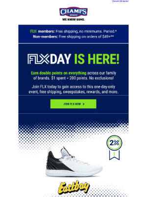 Champs Sports - FLX Day in 3, 2, 1…