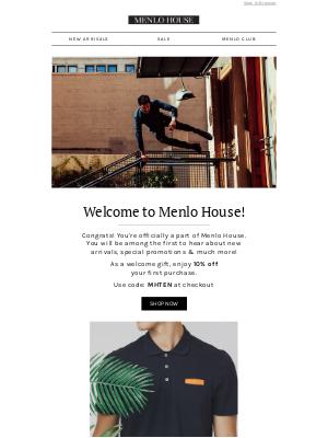 Menlo House - Welcome to Menlo House