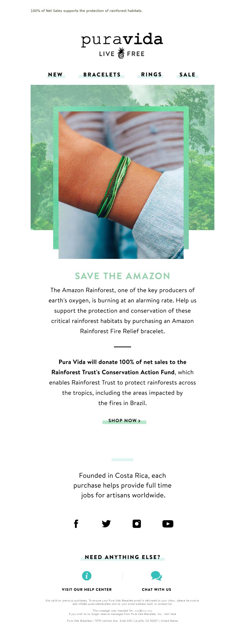 Pura Vida Bracelets - O.M.🌲!!! Save the Amazon Rainforest!