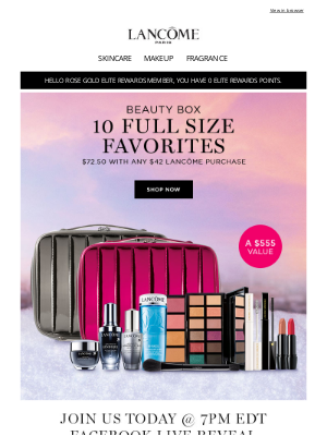 Lancome - The Wait is Over, Beauty Box is Here