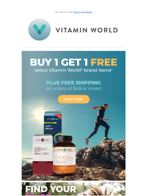 Vitamin World - Take an EXTRA $20 Off Your Purchase…