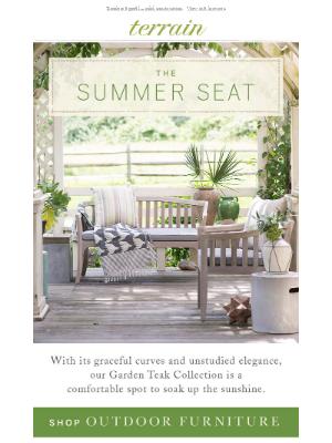 Our favorite sofa for a garden retreat.