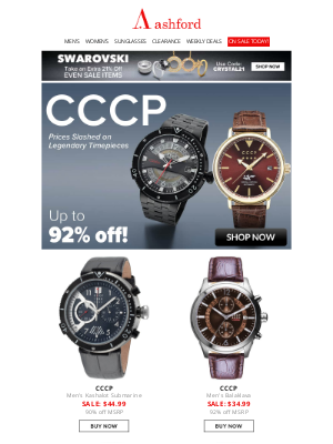 Ashford - CCCP | New Arrivals Up to 92% Off!