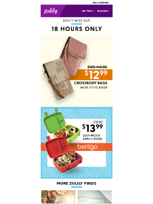 $12.99 MKF crossbody bags + $13.99 Bentgo lunch boxes — limited time!