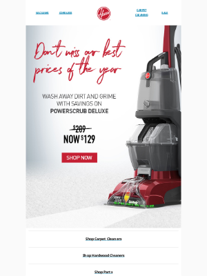Hoover - Don't miss our best prices of the year