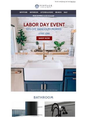 Vintage Tub - Labor Day Savings Start Now!