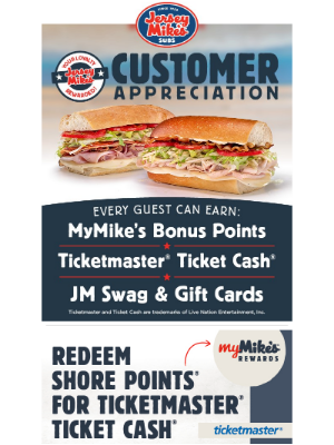 Jersey Mikes - Customer Appreciation Is Back!