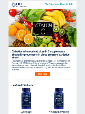 Life Extension - Vitamin C improves BP in diabetes
