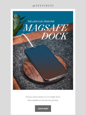 Grovemade - New: Horizontal MagSafe Dock
