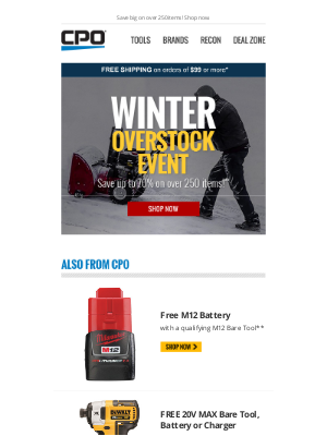 CPO Outlets - Up to 70% Off During Our Winter Overstock Event!