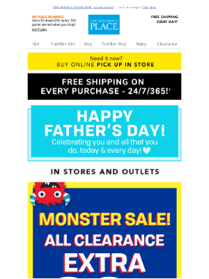 Crazy 8 - HAPPY FATHER'S DAY >> Monster Savings Ahead!