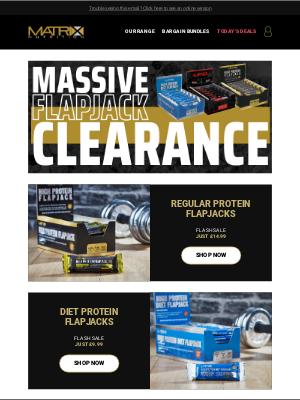 Matrix Nutrition (UK) - Massive Protein Flapjack Clearance!