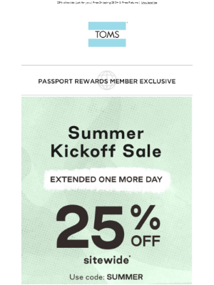 MEMBERS ONLY: Summer Kickoff Sale extended 💥