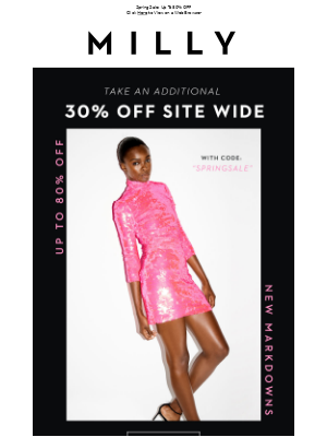 30% OFF SITE WIDE : SPRING SALE