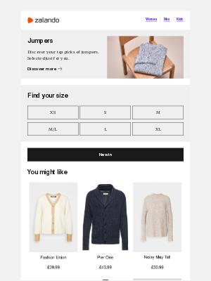 Zalando (UK) - Shop jumpers. Selected for you.