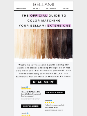 BELLAMI Hair - [HOW-TO] Pick Your Perfect Extensions Color 💁♀️