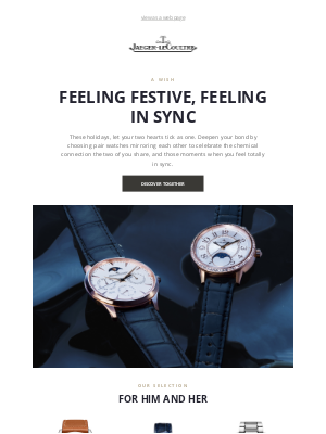 Jaeger-LeCoultre - A Festive Wish, Mirroring Each Other