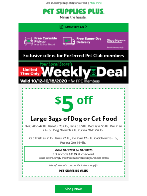 Pet Supplies Plus - Check out our new weekly deal at your REDFORD Pet Supplies Plus!