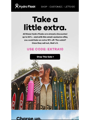 Hydroflask - Email Exclusive: Extra 10% off sale!