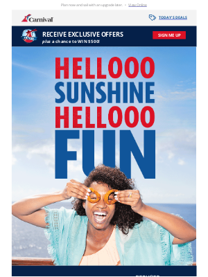 Carnival Cruise Line - Treat yourself to cruise savings: 40% off 🛳️