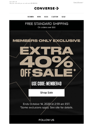 Converse - Exclusive sale for members