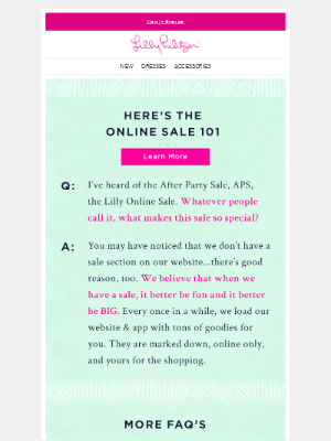 Lilly Pulitzer - So you want to talk sale?  
