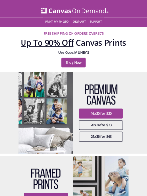 Canvas On Demand - Get Free Shipping on Orders of $75+
