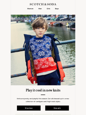 Scotch & Soda - Kitted out in knits