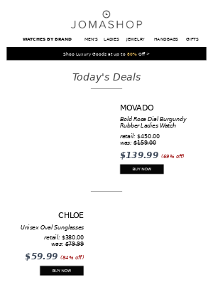 🎈 24 HOURS: Panerai Radiomir Men's Watch 38% off | Movado Bold Watch $140 | Chloe Sunglasses $60