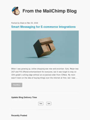 MailChimp - Smart Messaging for E-commerce Integrations