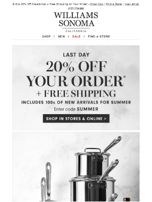ENDS TONIGHT: 20% Off (Your Code Inside!)