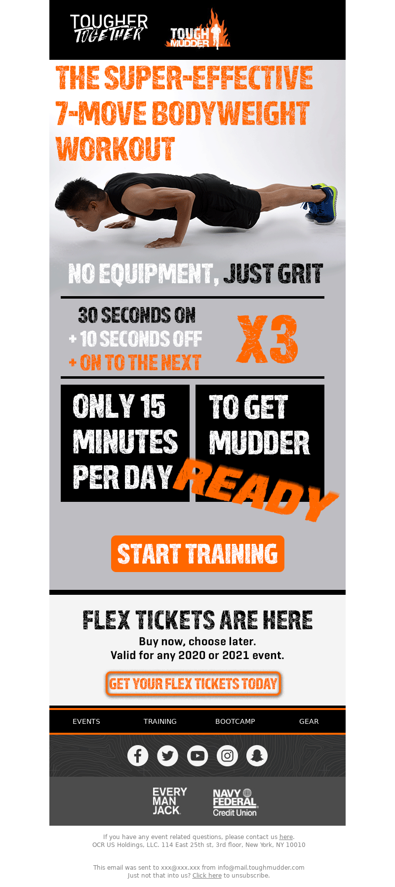 Tough Mudder - 💪 No equipment for this workout, just grit