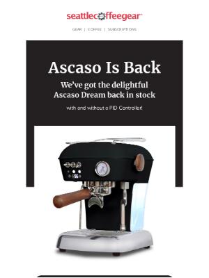 Seattle Coffee Gear - Ascaso Is Back!⚫