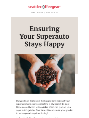 Seattle Coffee Gear - Superauto Recommended Coffee☕