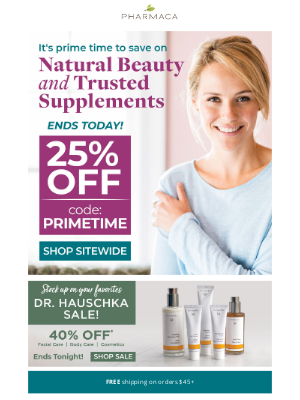 Pharmaca - 25% off sitewide ends today!