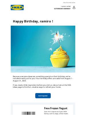Happy Birthday from IKEA Family!