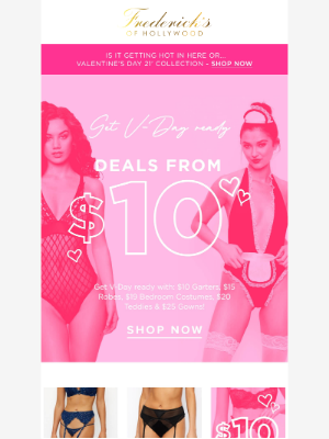 Frederick's of Hollywood - Get Valentine's ready from $10 💌