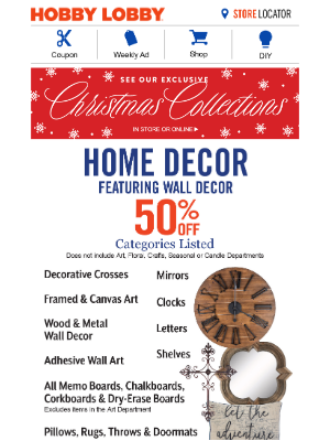 Hobby Lobby - Save More With A 40% Off Coupon