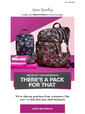 Backpacks are what we do best — let's find yours!