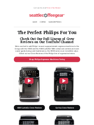 Seattle Coffee Gear - Philips Superauto Crew Review Roundup!