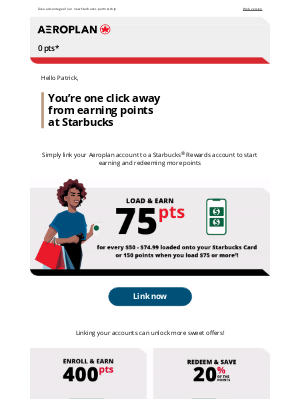 Air Canada - Earn more points by linking your accounts today!