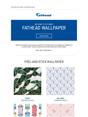 Introducing Wallpaper to the Fathead Family ✨