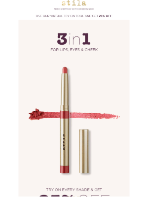 Stila Cosmetics - Score 25% Off This New 3-in-1 Makeup Fave