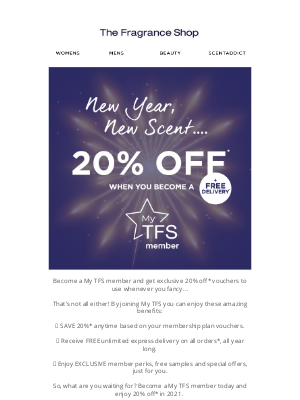 The Fragrance Shop UK - Save 20% ANYTIME in 2021