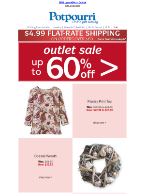Potpourri Online Catalog - Save up to 60% ~ Happy Clearance Store Week!