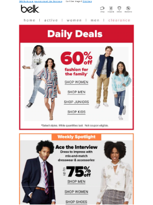 Belk - Saturday savings! 🥂 Up to 80% off NEW markdowns